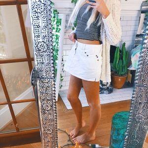 Dresses & Skirts - Abercrombie + Fitch White Denim Skirt 🌿 B146